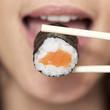 canvas print picture - Sushi essen