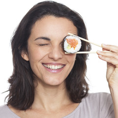 Sushi auf dem Auge