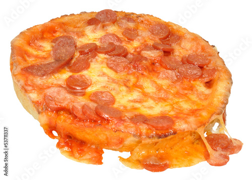 Microwave Cooked Pepperoni Pizza