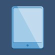 modern Flat Design - tablet pc in  blue in blue trend colors