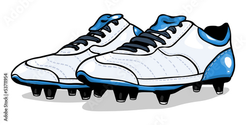 vectorwhite football boots