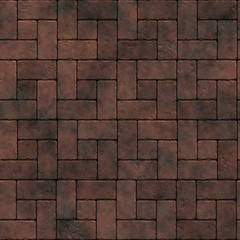 Traditional brick pavement - seamless texture