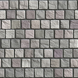 Uneven cobblestone pavement - seamless texture