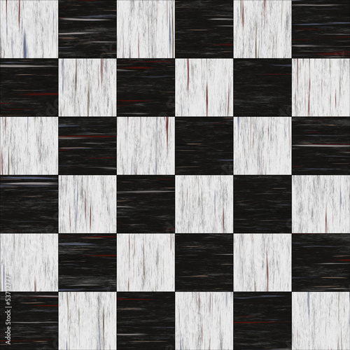 Old diner checkerboard linoleum - seamless texture - 53712777