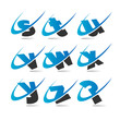 Swoosh Small Letters Icons Set 3