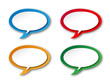 Speech Bubble Icons (buttons symbols tags blank template vector)
