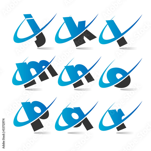 Swoosh Small Letters Icons Set 2