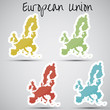 stickers in form of European Union