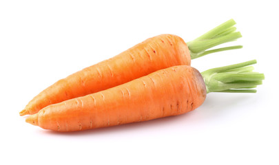 Two ripe carrots