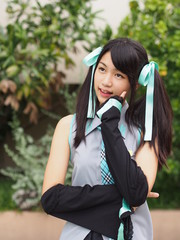 Pretty cosplay girl