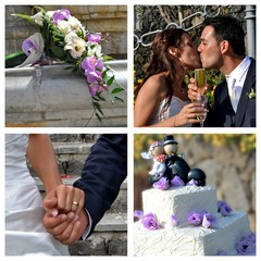 Collage - the best moments of the wedding