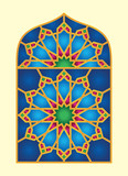 Arabic Window Geomatrical Pattern