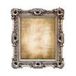 Cadre baroque rectangulaire vintage isolé