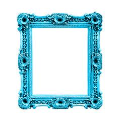 Cadre rectangulaire bleu turquoise