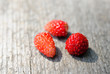 Three wild strawberries