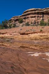 Dry river bank