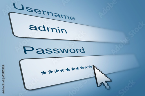 login with username and password in internet browser
