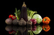Luxurious colorful vegetable still life.