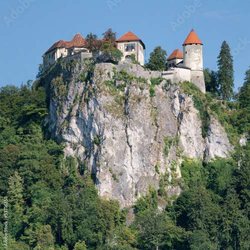 Perched castle of Bled