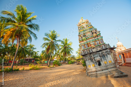 Hinduist temple damaged during tsunami at the east seashore of S