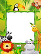 Zoo animals cartoon