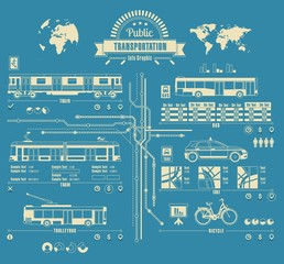 Public transportation info graphic