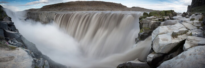 majestic Dettifoss waterfall