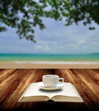 Drink coffee and read book with nice sea view