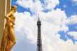 Trocadero statue and The Eiffel Tower, Paris