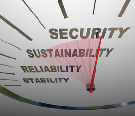 Financial Security Speedometer Words Increase Growing Retirement