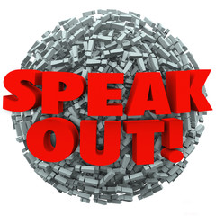 Speak Out Exclamation Point Mark Ball Spread Message Opinion