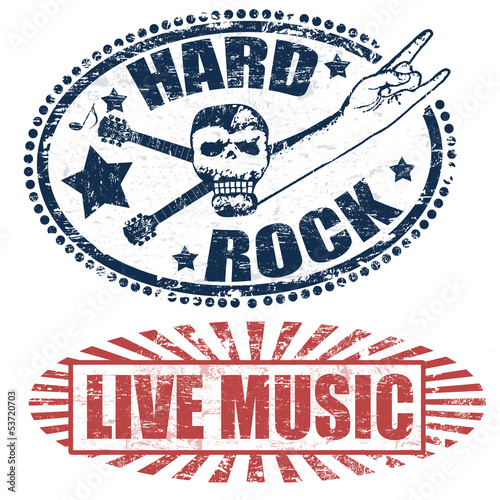 live music and hard rock stamps