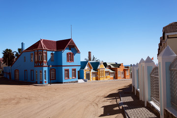 multicolored houses