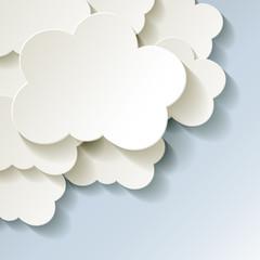 Cloud Cloud-Computing Rechnen in der Wolke Ecke Kalt Frost
