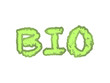 Bio ecological text logo, green, floreal, eco-friendly