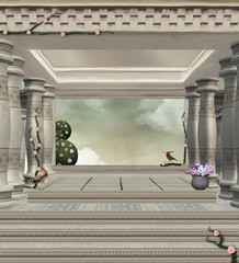 Ancient palace background