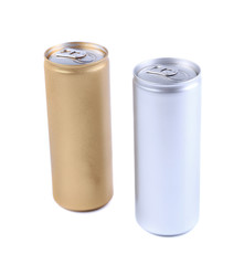 Blanks aluminum and golden soda can
