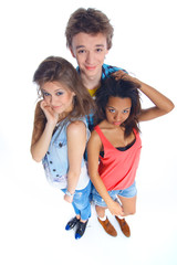 Three young teenagers