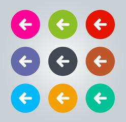 Back arrow sign - Metro clear circular Icon