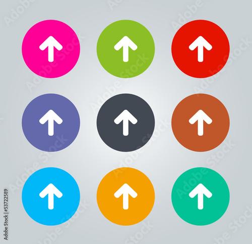 Up arrow sign - Metro clear circular Icons