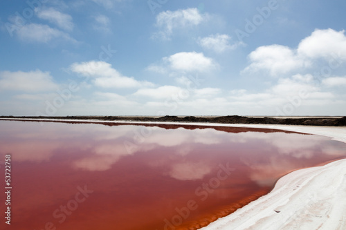 Red Saline in Namibia
