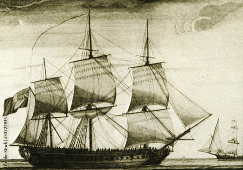 English corvette ca. 1770