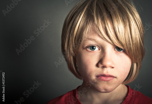 portrait of a bullied child