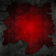 Cracked concrete and red grunge background