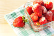 fresh strawberries with sugar