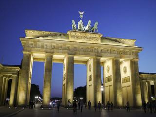 Brandenburg Gate At Dusk Berlin