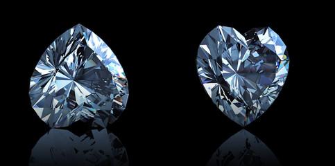 Heart shaped Diamond. Jewelry gemstone