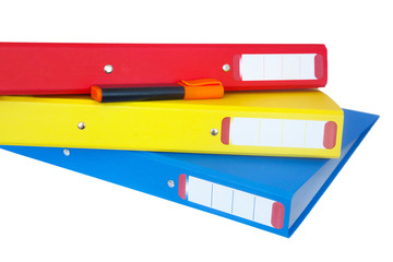 Set of folders with marker