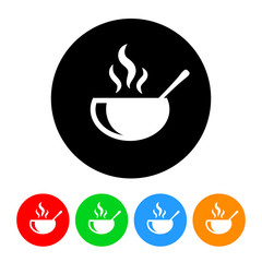 Soup Icon with Color Variations