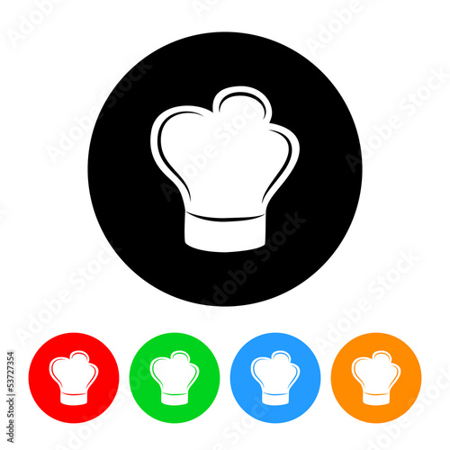 Chef's Hat Icon with Color Variations